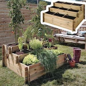 Carre De Jardin Potager : carr potager 3 tages bois trait g otextile carr ~ Premium-room.com Idées de Décoration
