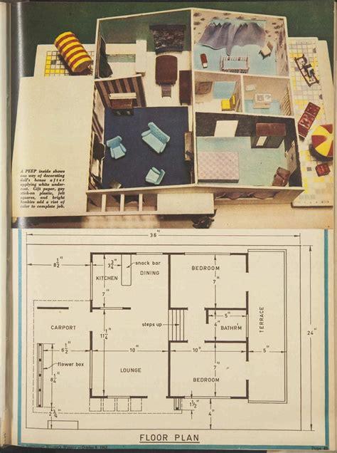 house plan plans   split level  dolls house