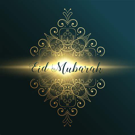 eid mubarak muslim festival greeting card design