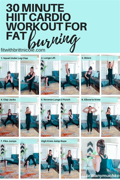 30 Minute At Home Workout by 30 Minute At Home Hiit Cardio Workout For Burning At