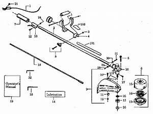 358 797161 Craftsman 32cc Gas Weedwacker String Trimmer