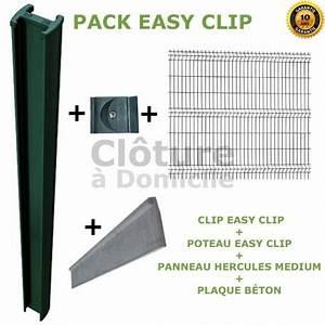 Plaque De Beton Pour Cloture Pas Cher : cloture eay clip en panneau rigide avec plaque b ton ~ Dode.kayakingforconservation.com Idées de Décoration
