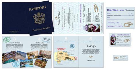 passport  gold heart rings custom passport invitations