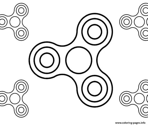 fidget spinner printable template simple fidgets spinners coloring pages printable