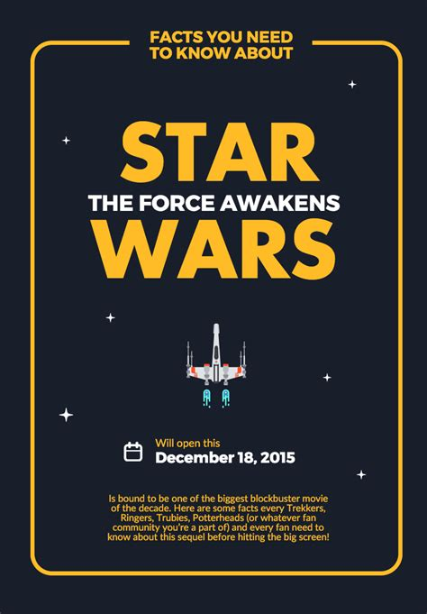 Free delivery and returns on ebay plus items for plus members. Create your own #StarWars: #TheForceAwaken #poster with our new PRO poster template. | Create ...