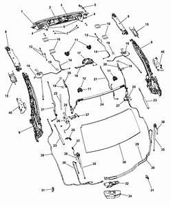 2008 Chrysler Sebring Convertible Hard Top Attaching Parts