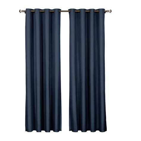 eclipse microfiber blackout navy grommet curtain panel 95