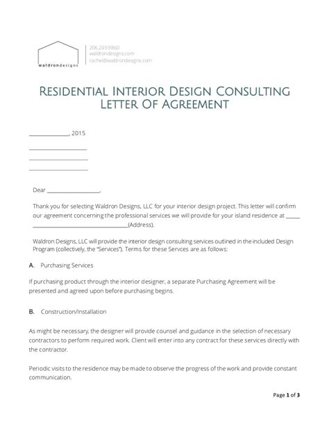 interior design proposal examples  examples