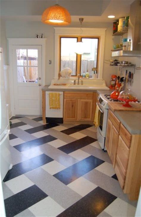 Basket weave VCT flooring pattern.   Flooring Ideas