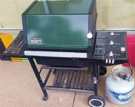 Green vintage Weber gas grill   Weber Grills   Pinterest