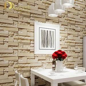 Aliexpress.com : Buy Luxury Stone Brick wall 10M Vinyl ...