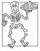 Skeleton Coloring Bones Printable Halloween Activities Human Anatomy Sheet Printables Skelett Sheets Clases Woojr Popular sketch template