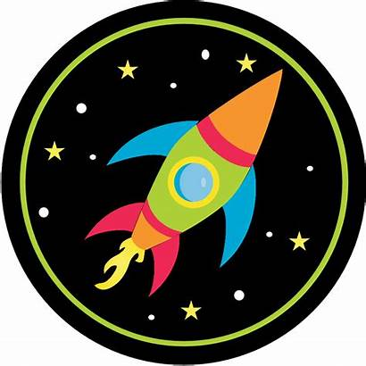 Rocket Space Clipart Printable Birthday Outer Cupcake