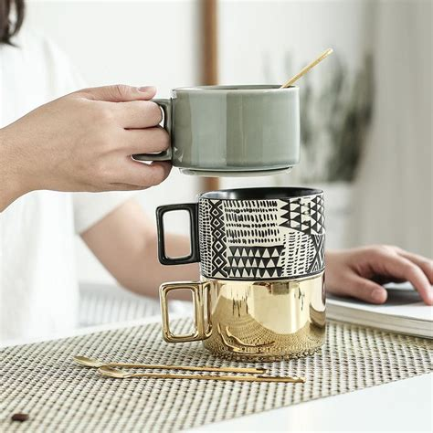 I saw your ad and thought, wow! 320ML Gold Plated Coffee Cup European Creative Ceramic Cup Wide Mouth Mug Wholesale Retro Relief ...