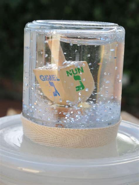 glittery dreidel snow globe childrens crafts jewish kids