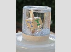 Glittery Dreidel Snow Globe Children's Crafts Jewish Kids