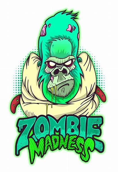 Zombie Behance Madness Clipart Nuke Cod Monkey