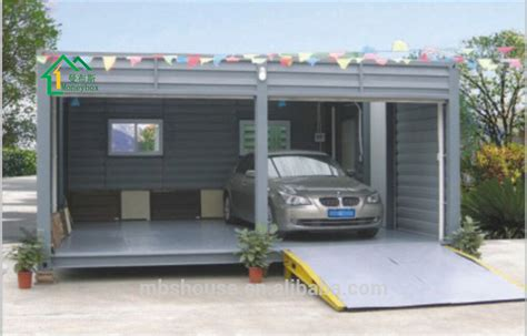 portable parking garage modified shipping container carport two car portable