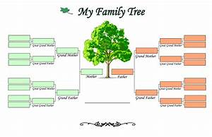family tree templates find word templates With draw a family tree template