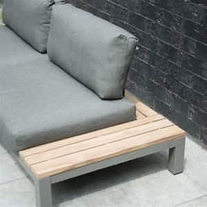Canapé De Jardin : fidji chauffeuse canap de jardin lounge en alu avec 2 coussins ~ Teatrodelosmanantiales.com Idées de Décoration