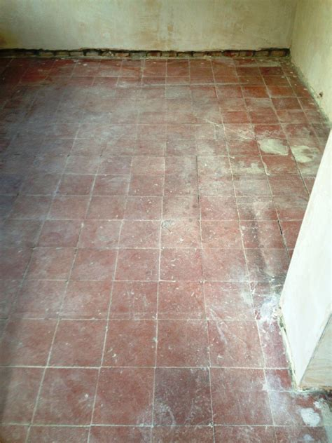 hallway quarry tiled floors cleaning and sealing