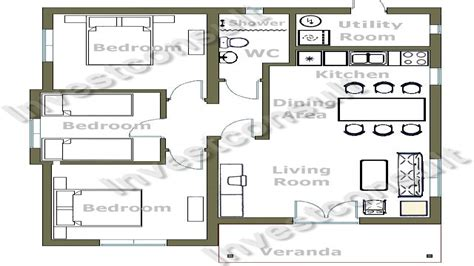3 floor house plans cheap 3 bedroom house plan small 3 bedroom house floor