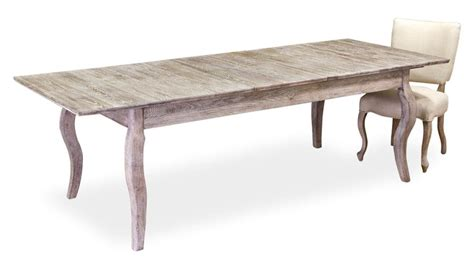 voltaire white wash solid oak dining table  leaves