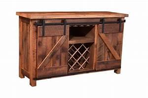 sliding barn door wine server With buffet with sliding barn doors