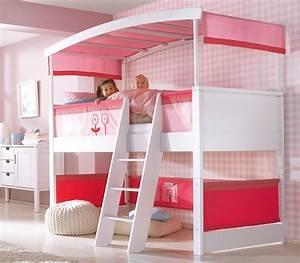 Hochbett Kinder Weiß : haba matti hochbett mit bogen wei rosa ~ Whattoseeinmadrid.com Haus und Dekorationen
