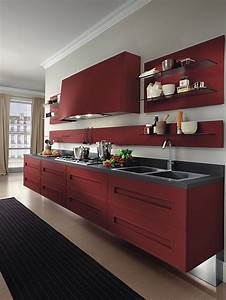 Modern burgundy #red #kitchen | Radiant Red | Pinterest ...