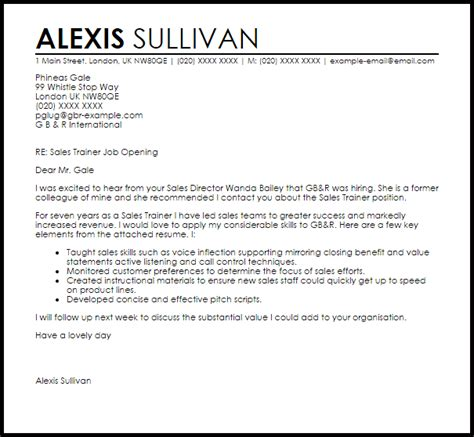 personal trainer cover letter uk  trainer tips