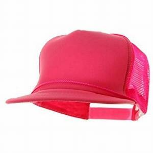 5 Panel Neon Color Poly Mesh Cap Neon Pink W39S51F at
