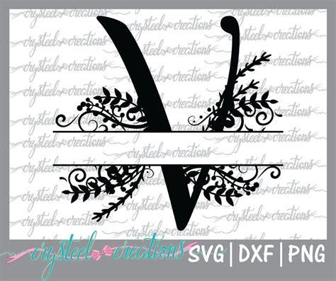 letter  split monogram svg png dxf regal split alphabet vector files  silhouette