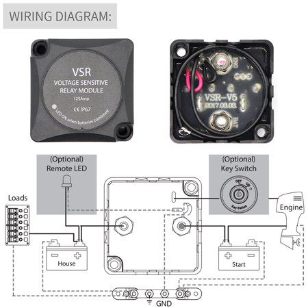 Walmart Canada Wiring Kit by Voltage Sensitive Relay Automatic Charging Relay Dual