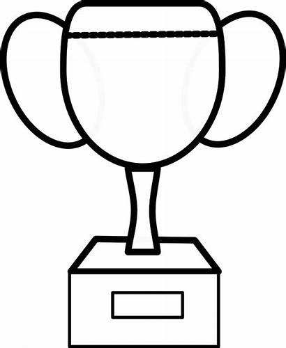 Trophy Outline Cup Clipart Clip Vector Football