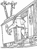 Circus Coloring Train Ringmaster Dumbo Elephant Template Printable Getcolorings sketch template