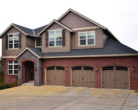 image result for exterior house color schemes with red