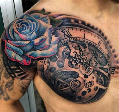 tattoos  men  dimensional illusion ink