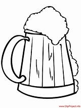 Beer Coloring Pages Sheet Sheets Cerveza Dibujo Title sketch template
