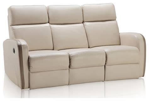 beige leather reclining sofa argentina light beige brown top grain leather reclining
