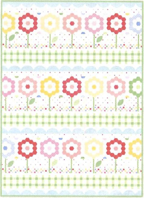 hexie flower garden quilt kit