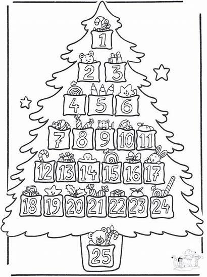 Calendario Avvento Bambini Colorare Stampare Dell Natale