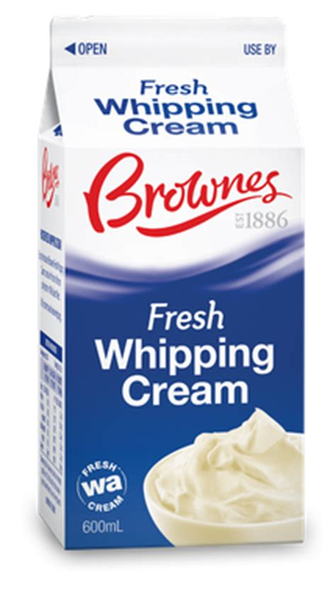 Whipping Cream   Brownes Dairy