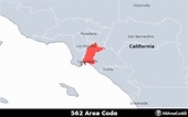 562 Area Code - Location map, time zone, and phone lookup
