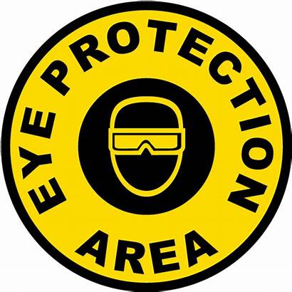 Eye Protection Sign Floor Area Safety Signs