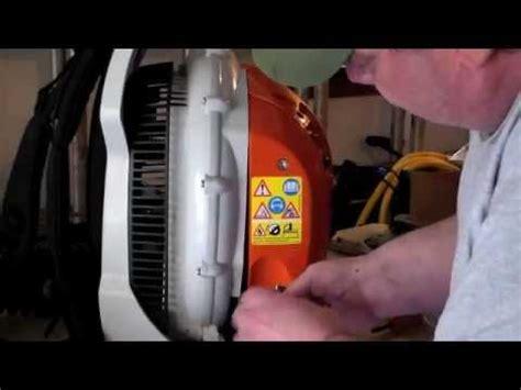 stihl  pack leaf blower br  filter change youtube