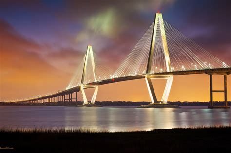 arthur ravenel jr bridge night