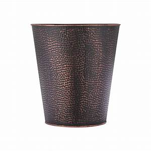 Wastebasket, For, Bedroom, Bathroom, Trash, Can, 6, Liters, Bronze, Stainless, Steel