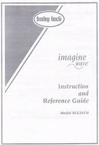 Imagine Wave Ble3atw Baby Lock Serger Users Guide
