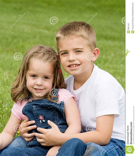 Brother Sister Royalty Free Stock Photography